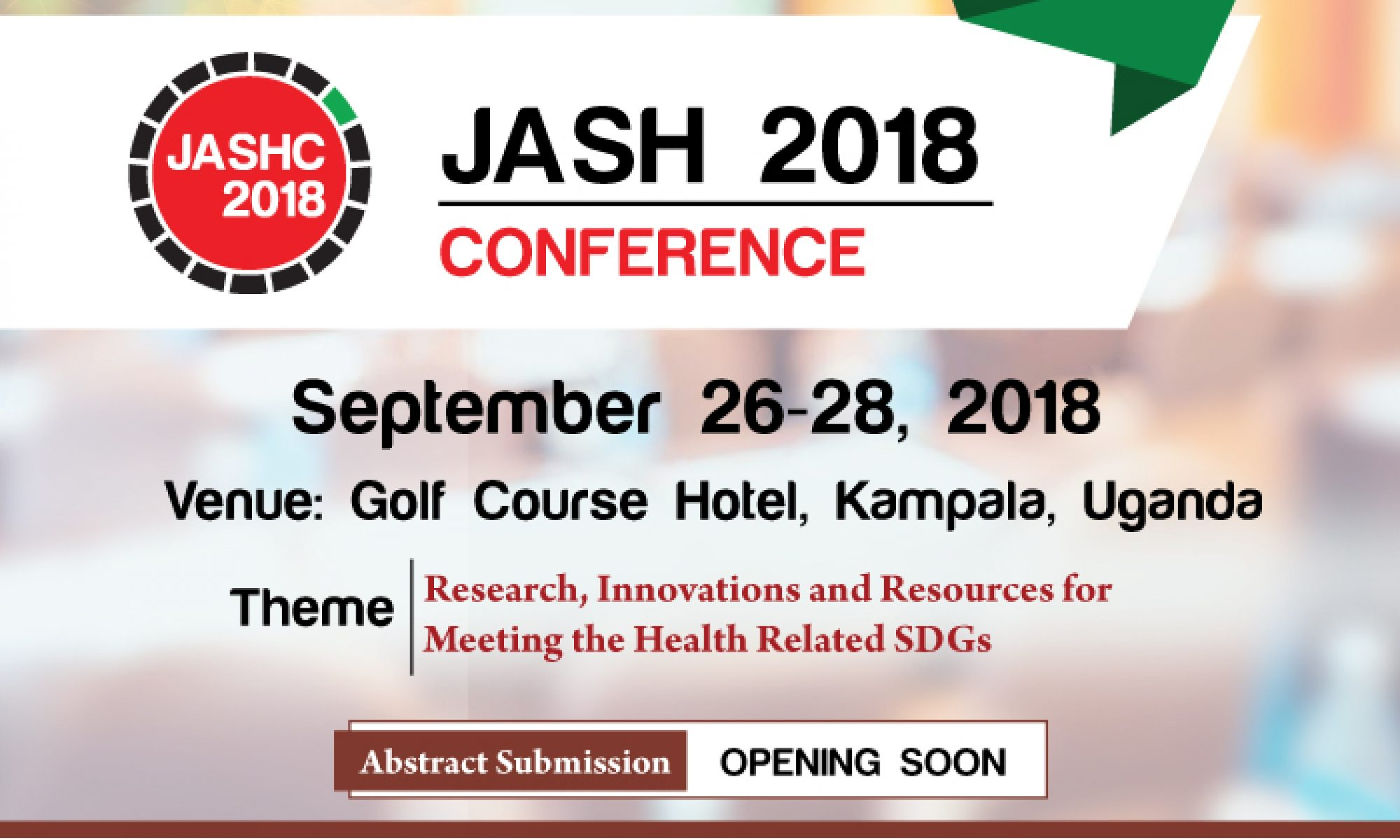 JOINT ANNUAL SCIENTIFIC HEALTH (JASH) CONFERENCE 2018